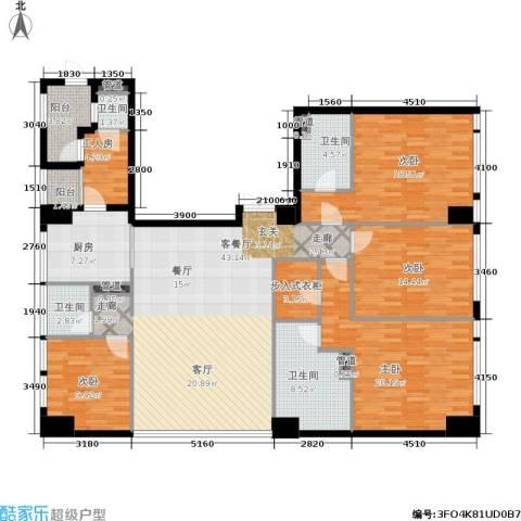 龙吟广场4室1厅4卫1厨253.00㎡户型图