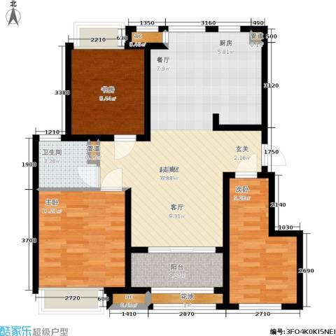 新城昱翠湾3室0厅1卫0厨85.00㎡户型图