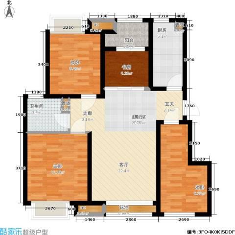 新城昱翠湾4室0厅1卫1厨85.00㎡户型图