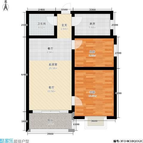 新佳苑2室0厅1卫1厨89.00㎡户型图