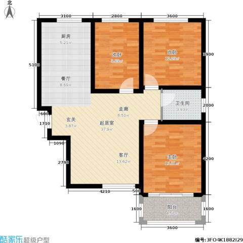 新佳苑3室0厅1卫0厨116.00㎡户型图