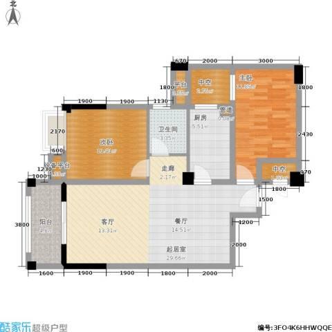 凯城花园2室0厅1卫1厨105.00㎡户型图