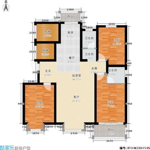 金桥天海湾3室0厅2卫0厨160.00㎡户型图