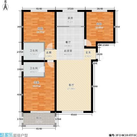 龙海南苑3室0厅2卫1厨162.00㎡户型图