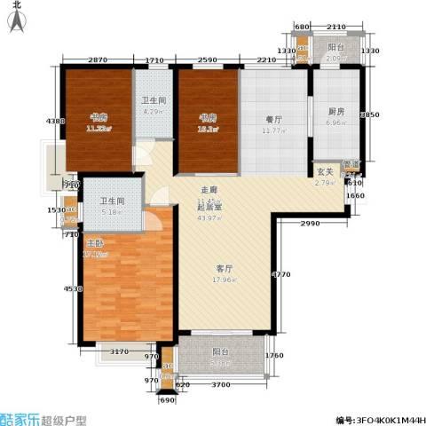 东外滩1号3室0厅2卫1厨125.00㎡户型图