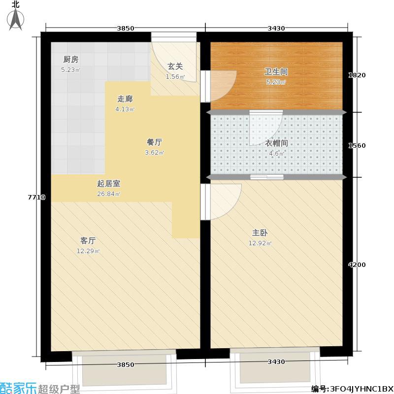 天津大悦城悦府Ⅱ期76.17㎡3号楼6-25层08户型