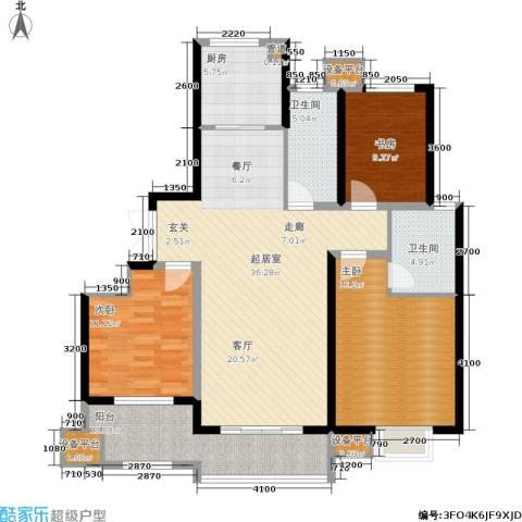 佳源・名人国际3室0厅2卫1厨144.00㎡户型图