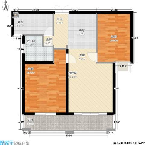 盛世御珑湾2室0厅1卫1厨84.00㎡户型图