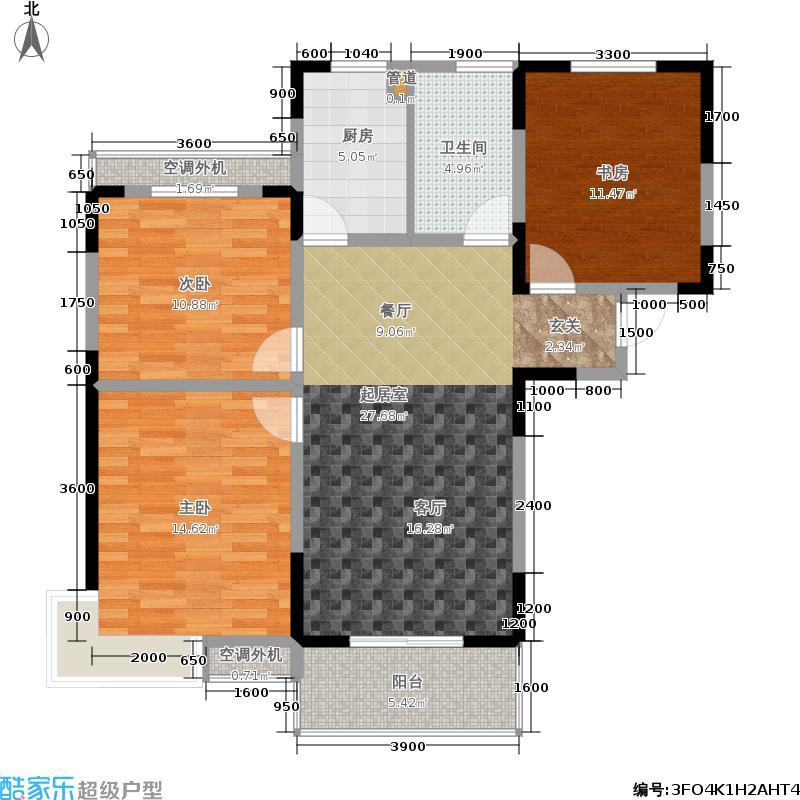 海泉时代广场108.54㎡海泉・时代广场B户型