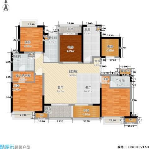 绿地新里派克公馆4室0厅3卫1厨145.00㎡户型图