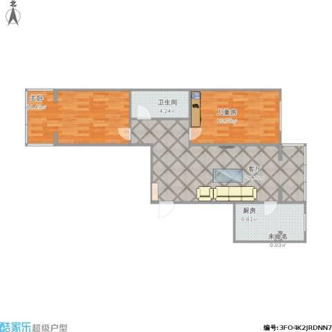 城市新苑2室1厅1卫1厨88.00㎡户型图