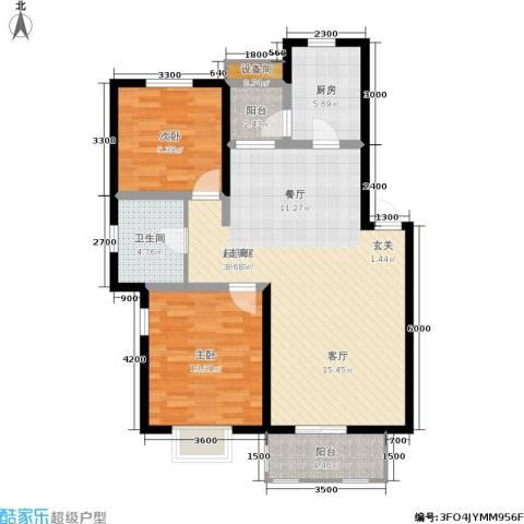 大地12城2室0厅1卫1厨94.00㎡户型图