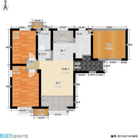融创中央学府2室1厅1卫1厨103.00㎡户型图