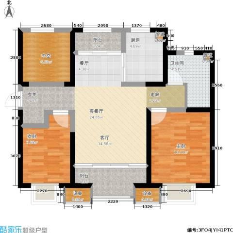 融创中央学府2室1厅1卫1厨98.00㎡户型图