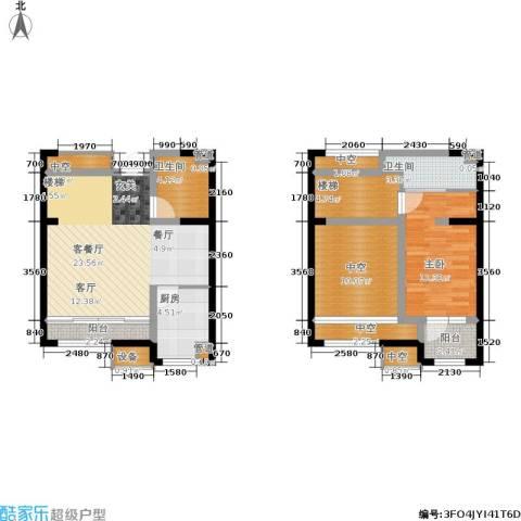 融创中央学府1室1厅2卫1厨101.00㎡户型图