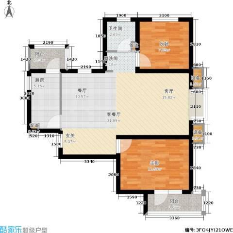 天房彩郡二期2室1厅1卫1厨94.00㎡户型图