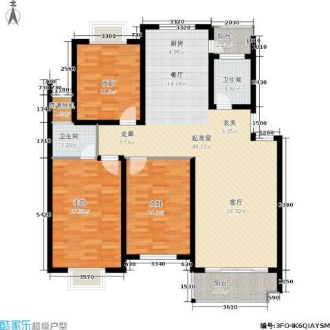 广天.青城雅居3室0厅2卫0厨152.00㎡户型图