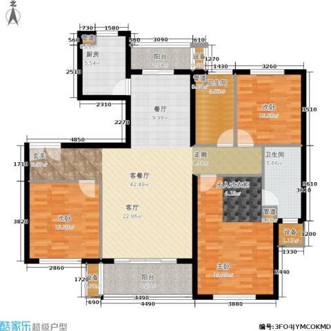 紫薇・花园洲3室1厅2卫1厨129.00㎡户型图