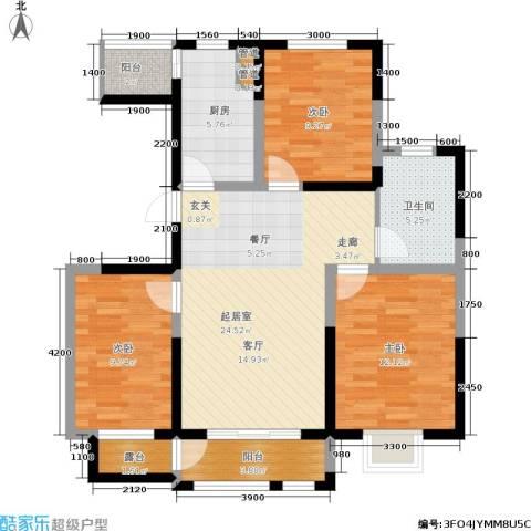 大地12城3室0厅1卫1厨106.00㎡户型图