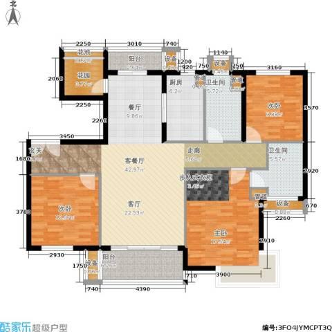 紫薇・花园洲3室1厅2卫1厨134.00㎡户型图