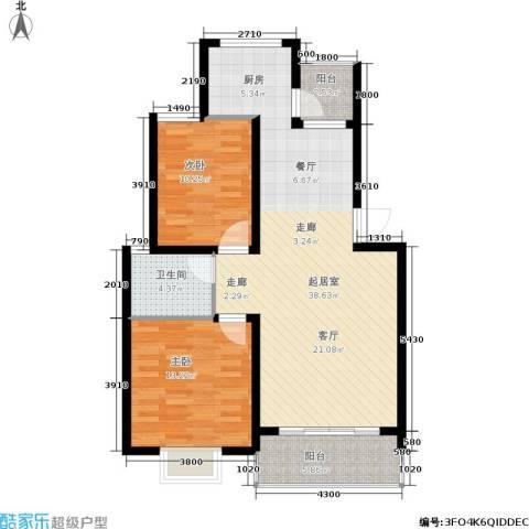 广天.青城雅居2室0厅1卫0厨106.00㎡户型图
