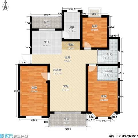 广天.青城雅居3室0厅2卫1厨152.00㎡户型图