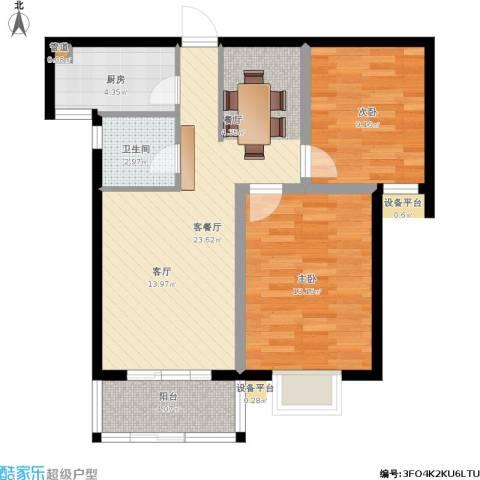 玉泉华庭2室1厅1卫1厨83.00㎡户型图