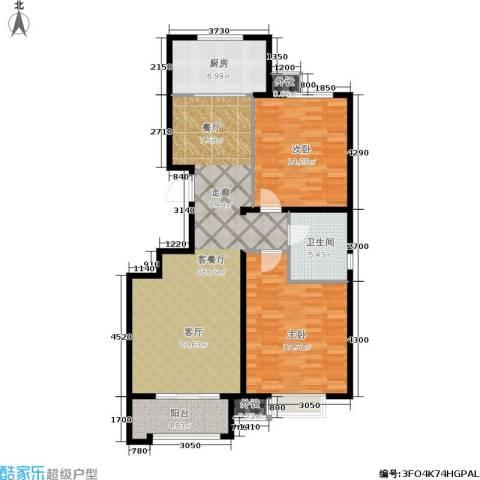 惠腾公寓2室1厅1卫1厨121.00㎡户型图