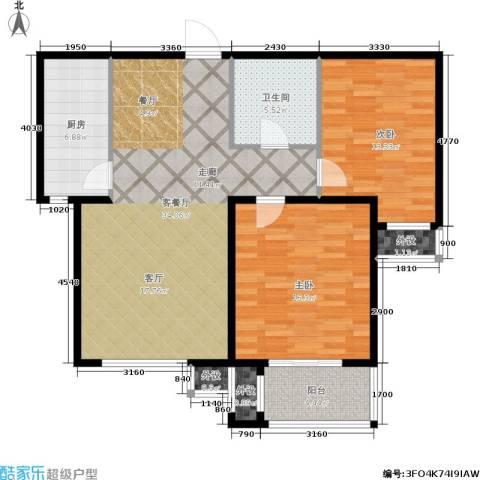 惠腾公寓2室1厅1卫1厨116.00㎡户型图