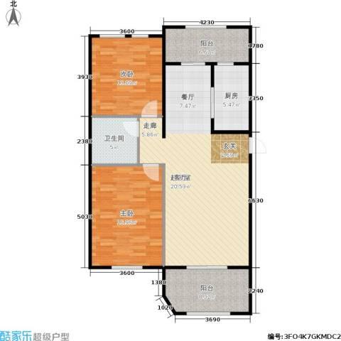 煜明赫敦山(红桥蓝座二期)2室0厅1卫1厨125.00㎡户型图