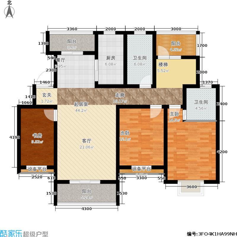 春晖家园140.00㎡二期117#A1顶层户型