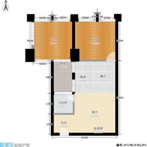 嘉信广场1室0厅1卫0厨77.00㎡户型图