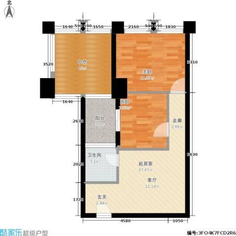 嘉信广场2室0厅1卫0厨77.00㎡户型图