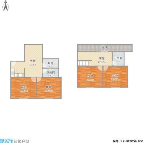 365014金枫国际4室2厅2卫1厨140.00㎡户型图
