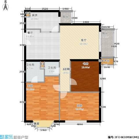 朗琴园3室0厅2卫1厨121.00㎡户型图