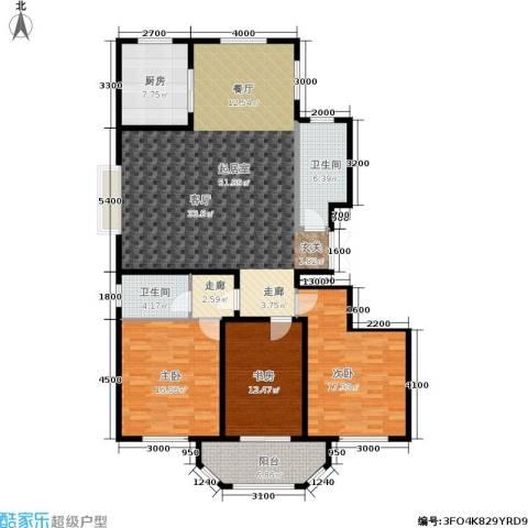 港澳花园3室0厅2卫1厨130.00㎡户型图