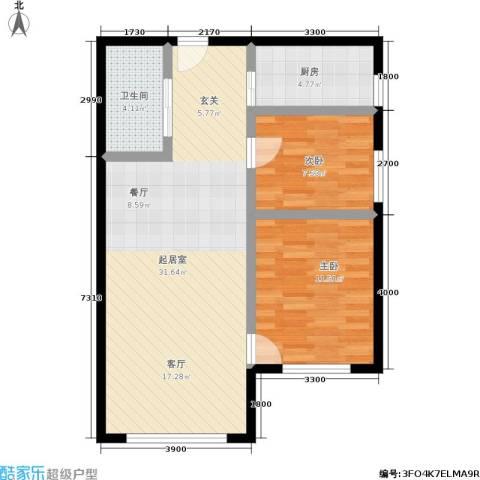 恩源智湾2室0厅1卫1厨82.00㎡户型图