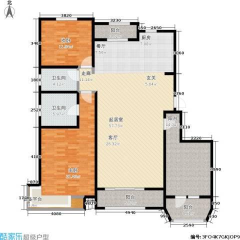 煜明赫敦山(红桥蓝座二期)2室0厅2卫0厨183.00㎡户型图