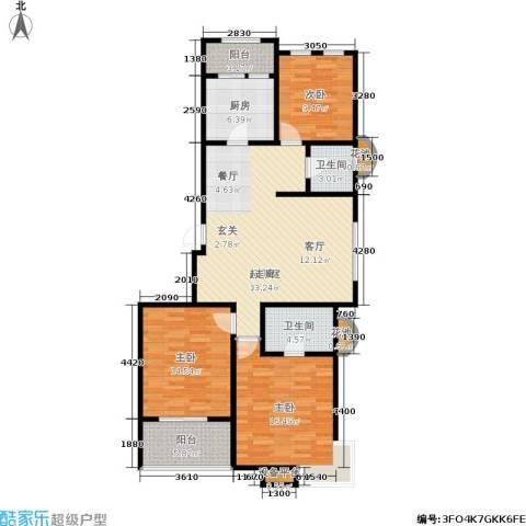 煜明赫敦山(红桥蓝座二期)3室0厅2卫1厨137.00㎡户型图