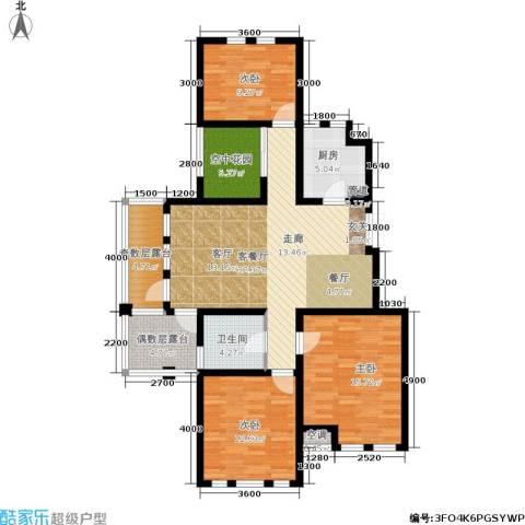 新凯东市尚品3室1厅1卫1厨138.00㎡户型图