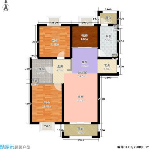 中惠卡丽兰3室0厅1卫1厨113.00㎡户型图