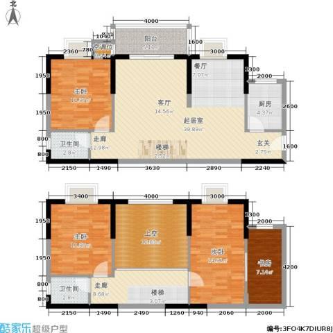 惠东金河湾花园4室0厅2卫1厨122.71㎡户型图