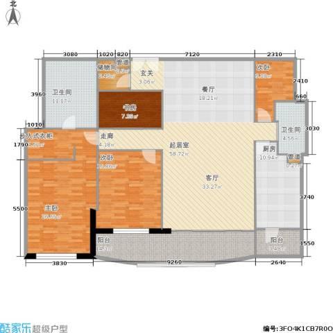 世茂宫园4室0厅2卫1厨174.00㎡户型图