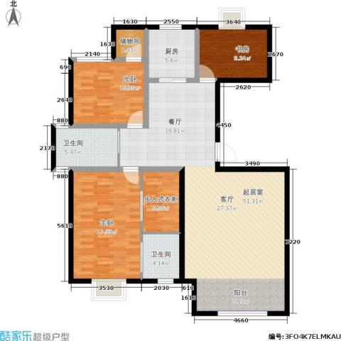 恩源智湾3室0厅2卫1厨126.00㎡户型图