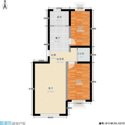 恩源智湾2室0厅1卫1厨94.00㎡户型图