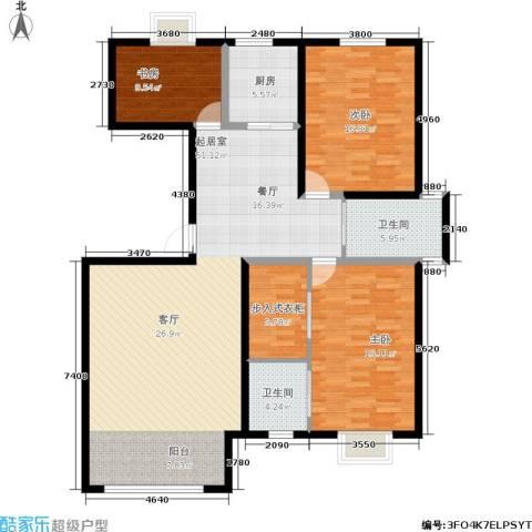 恩源智湾3室0厅2卫1厨130.00㎡户型图