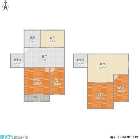 262440盘溪新村4室3厅2卫1厨187.00㎡户型图