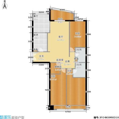 朗琴园3室1厅2卫1厨148.00㎡户型图