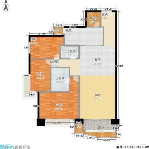 朗琴园3室0厅2卫1厨176.00㎡户型图