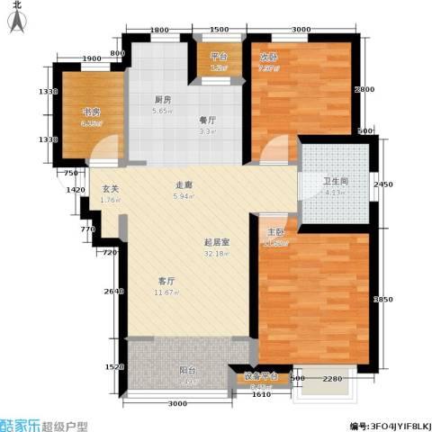 融科瀚棠3室0厅1卫0厨90.00㎡户型图